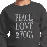 Peace Love & Yoga Kids Sweatshirt