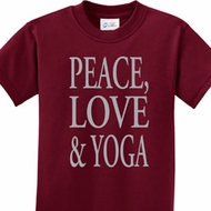 Peace Love & Yoga Kids Yoga Shirts