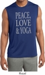 Peace Love & Yoga Mens Sleeveless Moisture Wicking Shirt