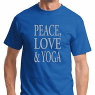 Peace Love & Yoga Mens Yoga Shirts