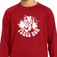 Peace Now Kids Dry Wicking Long Sleeve Shirt