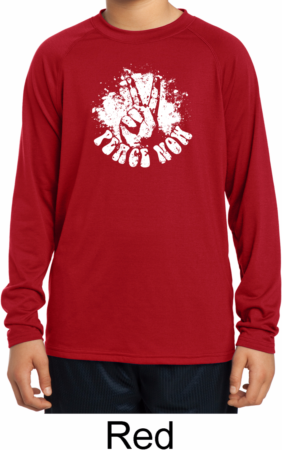 Peace Now Kids Dry Wicking Long Sleeve Shirt Peace Now