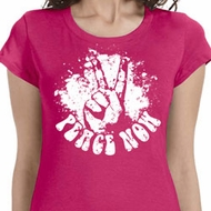 Peace Now Ladies Shirts