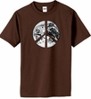 Peace Shirt Peace Earth Satellite Image Organic Tee Chocolate Brown