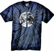 Peace Shirt Peace Earth Satellite Image Pigment Dyed Tee Navy Blue