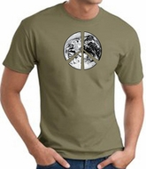 Peace Shirt Peace Earth Satellite Image Tee Army Green