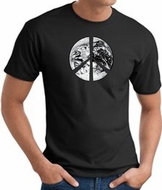 Peace Shirt Peace Earth Satellite Image Tee Black