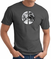 Peace Shirt Peace Earth Satellite Image Tee Charcoal
