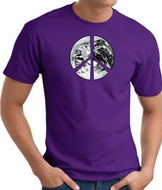 Peace Shirt Peace Earth Satellite Image Tee Purple