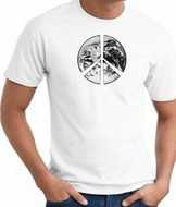 Peace Shirt Peace Earth Satellite Image Tee White
