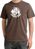 Peace Shirt Peace Now Retro Pigment Dyed Tee Chestnut