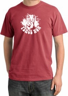 Peace Shirt Peace Now Retro Pigment Dyed Tee Dashing Red