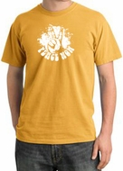 Peace Shirt Peace Now Retro Pigment Dyed Tee Mustard