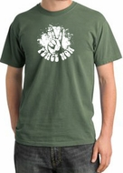 Peace Shirt Peace Now Retro Pigment Dyed Tee Olive