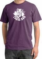 Peace Shirt Peace Now Retro Pigment Dyed Tee Plum