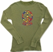 Peace Sign FUNKY 70s Lightwieght Thermal Retro Tee