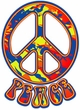 Peace Sign Funky 70s Love Symbol Retro Hoody