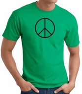 Peace Sign Shirt Basic Peace Black Print Tee Kelly Green