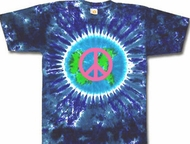 Peace Sign Shirt Pink Peace Earth Tie Dye Tee