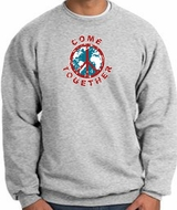 Peace Sign Sweatshirt Come Together Sweatshirt Athletic Heather