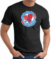 Peace Sign T-shirt - All You Need Is Love Adult Tee - Black