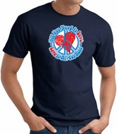 Peace Sign T-shirt - All You Need Is Love Adult Tee - Navy