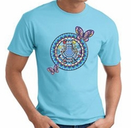 PEACE SIGN with BUTTERFLIES Symbol Adult T-shirt Tee shirt