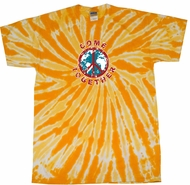 Peace Tie Dye Shirt Come Together Gold Twist Tie Dye Tee