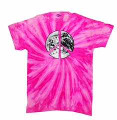 Peace Tie Dye T-shirt Peace Earth Bubblegum Twist Tie Dye