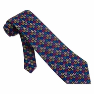 Peace Tie Navy Blue Silk Necktie - Mens Occupational Neck Tie