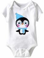 Penguin Funny Baby Romper White Infant Babies Creeper
