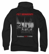 Pet Sematary Hoodie Sweatshirt Cat Poster Black Adult Hoody