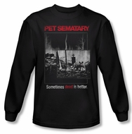Pet Sematary Shirt Cat Poster Long Sleeve Black Tee T-Shirt