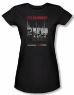 Pet Sematary Shirt Juniors Cat Poster Black Tee T-Shirt