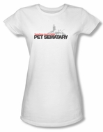 Pet Sematary Shirt Juniors Logo White Tee T-Shirt