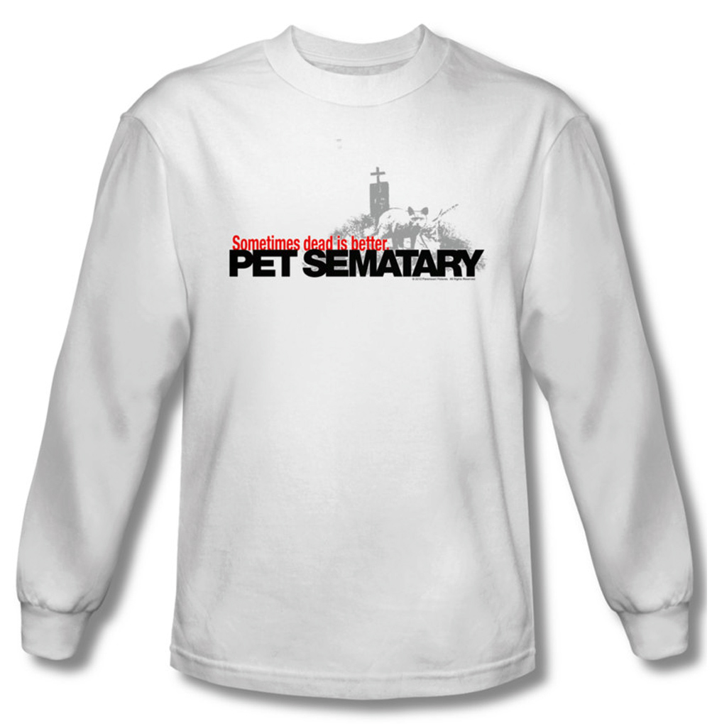 Pet Sematary Shirt Logo Long Sleeve White Tee T Shirt