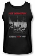 Pet Sematary Tank Top Cat Poster Black Tanktop