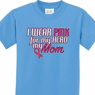 Pink For My Hero Kids Breast Cancer Awareness Shirts