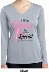 Pink For Someone Special Ladies Dry Wicking Long Sleeve Shirt