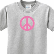 Pink Peace Kids Shirts