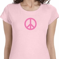 Pink Peace Ladies Shirts