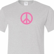 Pink Peace Mens Shirts
