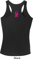 Pink Ribbon Pin Neck Print Ladies Shirts