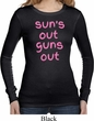 Pink Suns Out Guns Out Ladies Long Sleeve Thermal Shirt