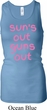 Pink Suns Out Guns Out Ladies Longer Length Racerback Tank Top