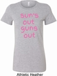 Pink Suns Out Guns Out Ladies Longer Length Shirt