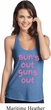 Pink Suns Out Guns Out Ladies T-Back Tank Top
