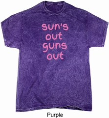Pink Suns Out Guns Out Mineral Tie Dye Shirt