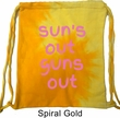Pink Suns Out Guns Out Tie Dye Bag