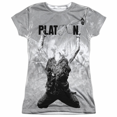 Platoon Grayscale Poster Sublimation Juniors Shirt